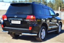 Toyota Land Cruiser 200. 2012- Защита заднего бампера уголки d76(секции) TLCZ-001646